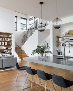5 Bedroom Decor Mistakes to Avoid House design plan with 3 bedrooms Haus Design Plan mit 3 Schlafzimmern - Home Design with Plansearch Dream Home Design, Modern House Design, Modern Home Interior Design, Modern Zen House, Natural Modern Interior, Home Stairs Design, Stair Design, Home Modern, Minimalist House Design