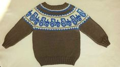 Ravelry: Traktorgenser pattern by Gerd Auestad Baby Boy Knitting, Knitting For Kids, Sweater Knitting Patterns, Knit Patterns, Crochet Baby, Knit Crochet, Diy Crafts Knitting, Baby Barn, Knit Baby Sweaters