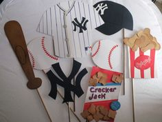 Flutter Bug Frenzy (www.etsy.com/shop/flutterbugfrenzy) has the perfect photo props for your little Derek Jeter.