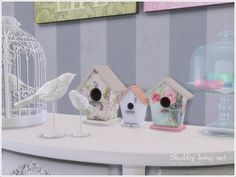 A set of furniture and decor for the living room or dining in style Shabby chic  Found in TSR Category 'Sims 4 Living Room Sets'