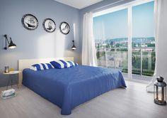 Przykładowa aranżacja mieszkania - sypialnia