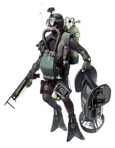 Navy Seal Picture  (2d, character, underwater, atomhawk, navy seal)