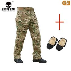 #Outdoor #Hiking         EmersonGEARG3 Combat Pants with Knee Pads MC Material: 35% Cotton & 65% Polyester Weight: About 1KG Size: S/M/L/XL/XXL  Product Description EmersonGEARG3 Combat Pants Designed as a no-compromise assault uniform these pants are aggressively cut for maximum mobility. These combat... #Travel #Backpacks