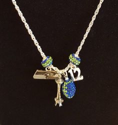 seahawks necklace by Simplyjillybean on Etsy