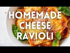 Homemade Cheese Ravioli - Fork in the Kitchen Homemade Pasta Dough, Homemade Ravioli, Homemade Cheese, Cheese Ravioli Recipe, Ravioli Sauce, Recipe Tonight, The Last Meal, Fresh Pasta, Tomato Sauce