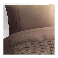 ALVINE STRÅ Duvet cover and pillowcase(s), brown - brown - Full/Queen (Double/Queen) - IKEA