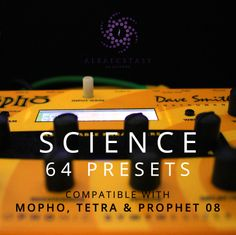 64 new patches made by Alba Ecstasy for MoPho. The presets are compatible with MoPho, MoPho SE, Tetra & Prophet. The pack contains: drums, basses, leads, arpeggiators and sequencers. 100% royalty free! Try the free presets!  http://www.albaecstasy.ro/mopho-tetra-prophet-08-presets/