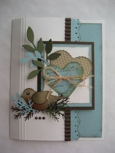 Hearts and bird punches from StampinUp.