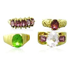 14k Gold Multi Color Gemstones Ring Lot of 4 Available on our July 21st Auction @ hamptonauction.com