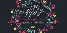 GoGipsy – the new decorative script by Coto Mendoza #decorative #script #typeface