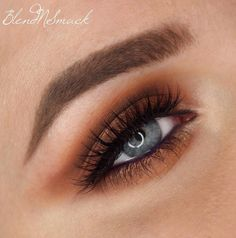 'Smokey Burnt Orange Eyes' by Sarah Hilal is one of those looks that never gets old. Plus, it's just the most beautiful complement to blue eyes! She used Makeup Geek Eyeshadows in Bada Bing, Cocoa Bear, and Creme Brulee + Makeup Geek Pigment in Poker Face and the Makeup Geek Vegas Lights Palette.