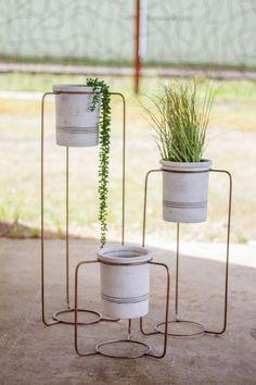 Pape Wash 3-Piece Copper/Clay Pot Planter Set