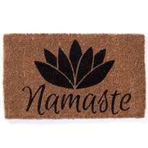 Ecofriendly coconut fiber Namaste Doormat offers the warmest of welcomes at a…
