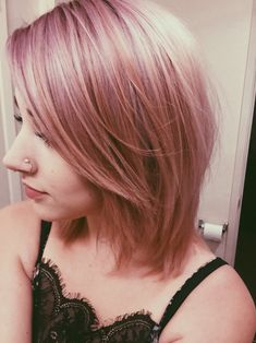 First bleach out hair then tone with Wella T14 (beige blonde before) and then she used Ion Color Brilliance Smoky Pink color w/a 20 developer 1:1 ratio.
