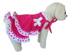 UP Collection Fashionable Summer Dress for Dogs Fuchsia Small ** Find out more about the great product at the image link.