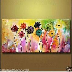flower paintings modern - Buscar con Google
