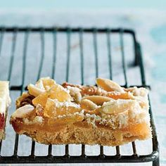 Ginger-Lemon Bars with Almond Streusel (From Scratch<3)