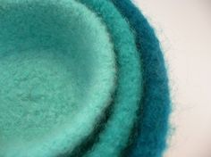 3 Nested Felted Bowls KNITTING PATTERN pdf by AllThingsKnitted, $4.95