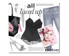 """All Laced Up for Spring with bebe: Contest Entry"" by miee0105 ❤ liked on Polyvore featuring Bebe, Olgana, RED Valentino, NARS Cosmetics, Vince Camuto, Anja, Maison Margiela and alllacedup"