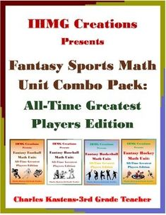 Fantasy sports are not only a fun, multi-million dollar hobby, but an incredibly exciting and engaging way to practice and reinforce math skills!In this product, students will work alone or in groups to create a fantasy baseball, basketball, football and hockey teams based on the all-time greatest players at their respective positions.