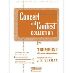 Hal Leonard Concert And Contest Collection for Trombone - Piano Accomp