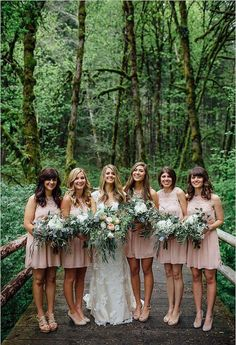 Use eucalyptus leaves and greenery for woodland bridal bouquets.