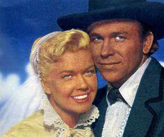 """Doris Day y Howard Keel en """"Doris Day en el Oeste"""" (Calamity Jane), 1953"""
