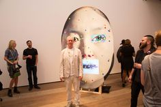 Tony Oursler. Surveillance and how your face can be used against you.
