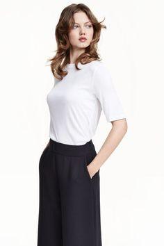 Camiseta en mezcla de seda | H&M