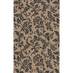 Shaw Living Francesca 8x10 Rectangle Area Rug in Taupe/Charcoal $199.00