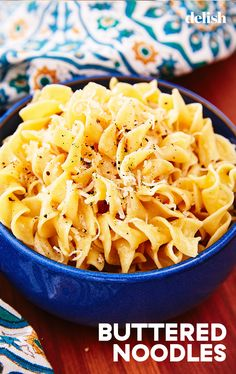 Buttered Noodles For The Nights You Just Can't Be Forced To Cook ~ Delish Restaurants In Nyc, Dinner Recipes For Kids, Kids Meals, Easy Meals, Dinner Ideas, Toddler Meals, Weeknight Meals, Meal Ideas, The Menu