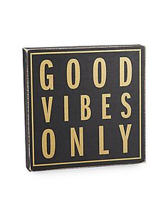 Good Vibes Only Wooden Wall Plaque