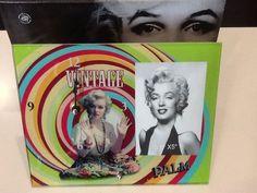Portafoto cornice orologio da tavolo Marilyn Monroe idea regalo