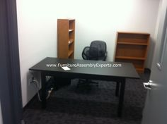 20 ikea bjursta office tables assembled and installed for washington language center in arlington va by Furniture Assembly Experts LLC