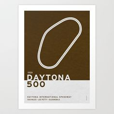 Legendary Races - 1959 Daytona 500 Art Print by Chungkong
