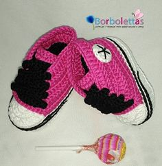 Baby Shoes, Newborn Shoes, Baby Sneakers, Babyshower, Converse, Crochet Shoes, Crochet Baby Booties, Fuchsia, Gift, Allstar, Baby Gift