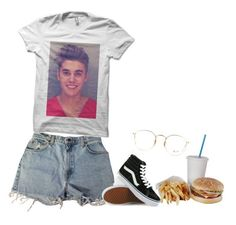 """""Smile through the pain"" HEADAHH "" by seselovly ❤ liked on Polyvore featuring Levi's, Vans, Justin Bieber and Ray-Ban"
