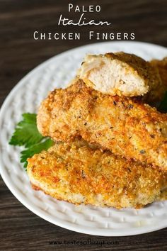 Italian paleo chicken fingers