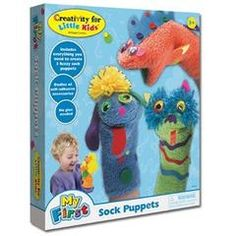Make your own sock puppets kit by Creativity for Kids. Package includes 3 fuzzy socks, felt and sticker embellishments, and wiggly eyes. 1 kit per package. Arts And Crafts Kits, Craft Kits For Kids, Art For Kids, Sock Puppets, Hand Puppets, Puppet Crafts, Make Your Own, How To Make, Creative Play