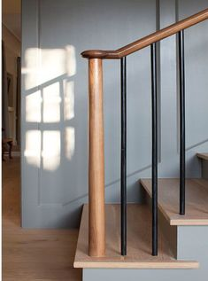 Simple and beautiful stair railing