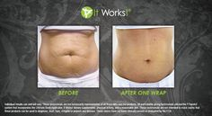 It Works wraps tighten, tone & firm your skin in only 45 minutes with progressive results up to 72 hours! 1 wrap is a treat, 4 Wraps is a treatment. The more you use the better your results!
