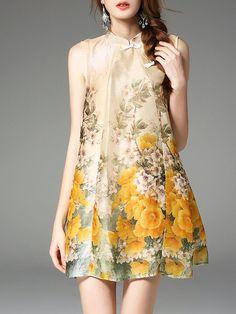 Shop Mini Dresses - Shift Sleeveless Vintage Mini Dress online. Discover unique designers fashion at StyleWe.com.