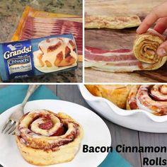 Esto puede sonar como una locura, pero añade tocino a tus rollos de canela antes de cocinarlos ¡Es delicioso!