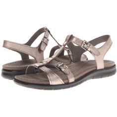 602ffc398471 ECCO Babette Sandal T-Strap (Warm Grey Metallic) Women s Sandals ( 66)