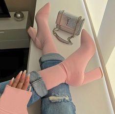 ★★Onde Comprar Sapatos Femininos Lindos e Baratos Chunky Heel Ankle Boots, Chunky Heels, Heeled Boots, Shoe Boots, Shoes Heels, Pumps, Stilettos, Shoes Men, Bootie Boots