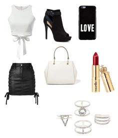 """Basic Black And Wite🖤💍"" by slstuiver ❤ liked on Polyvore featuring Versus, Apt. 9, DKNY, Givenchy and Charlotte Russe"