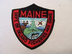 Maine game warden patch maine pinterest it is for Maine fish and game