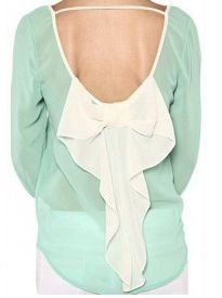 Mint and White Bow Back Top - $34.99 : FashionCupcake, Designer Clothing, Accessories, and Gifts