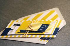 yellow + navy + stripes