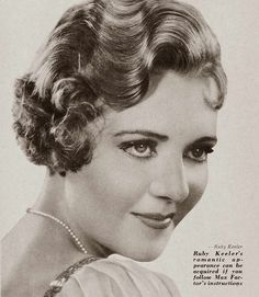1934-Christmas-Makeup-Tricks-by-Max-Factor - Ruby Keeler